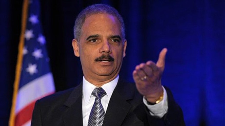April 2, 2012: Attorney General Eric Holder speaks at a forum in Washington.