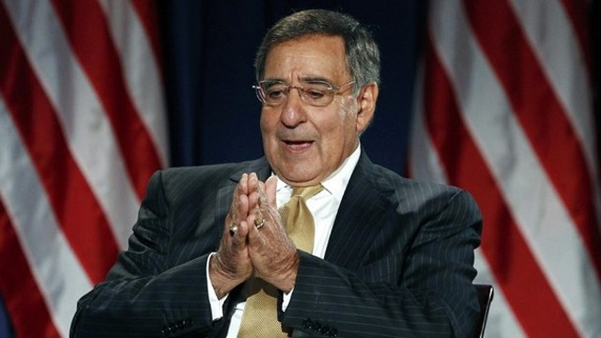 Secretary of Defense Leon Panetta takes part in a televised conversation at the National Defense University in Washington Aug. 16.