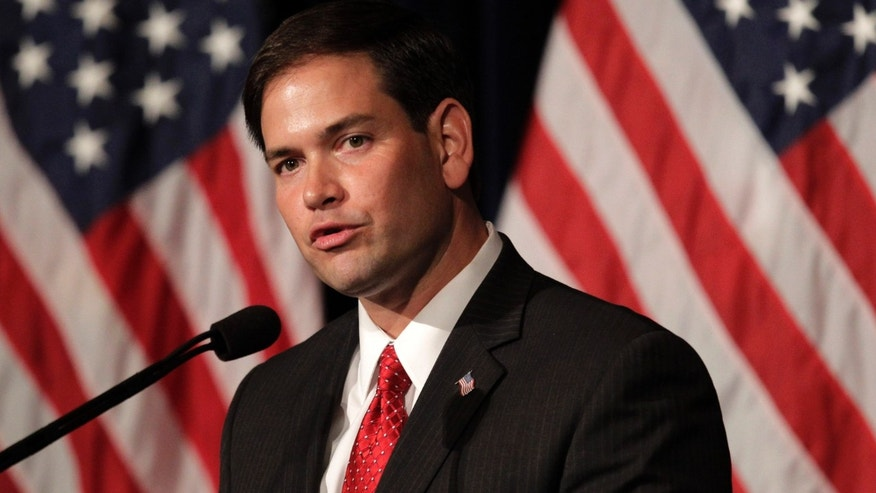 Sen. Marco Rubio, R-FL, speaks in Simi Valley, Calif., on Aug. 23, 2011. (AP Photo/Jae C. Hong, File)