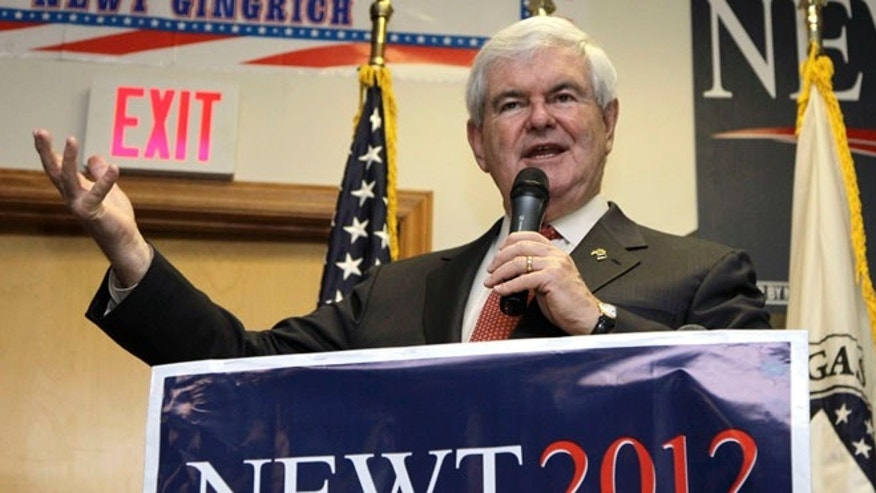 April 25, 2012: Newt Gingrich speaks in Cramerton, N.C.