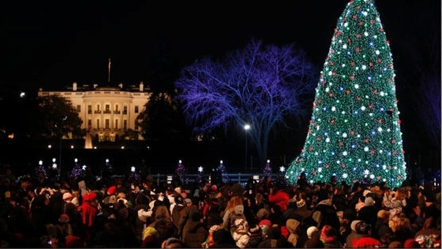 File: Dec. 9, 2010: The National Christmas Tree across from the White House in Washington.