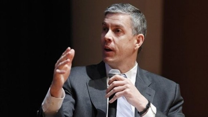 March 2, 2012: Education Secretary Arne Duncan speaks during a forum on education at American University in Washington.