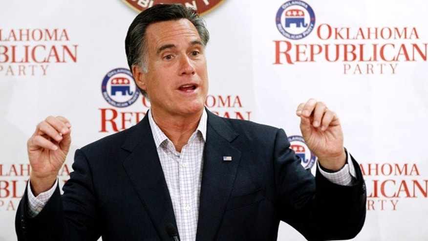 May 9, 2012: Mitt Romney speaks in Oklahoma City.