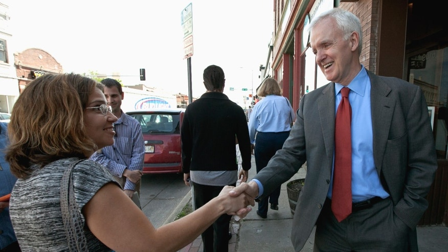 May 15, 2012: Democratic senate candidate Bob Kerrey campaigns in the Benson neighborhood of Omaha, Neb.