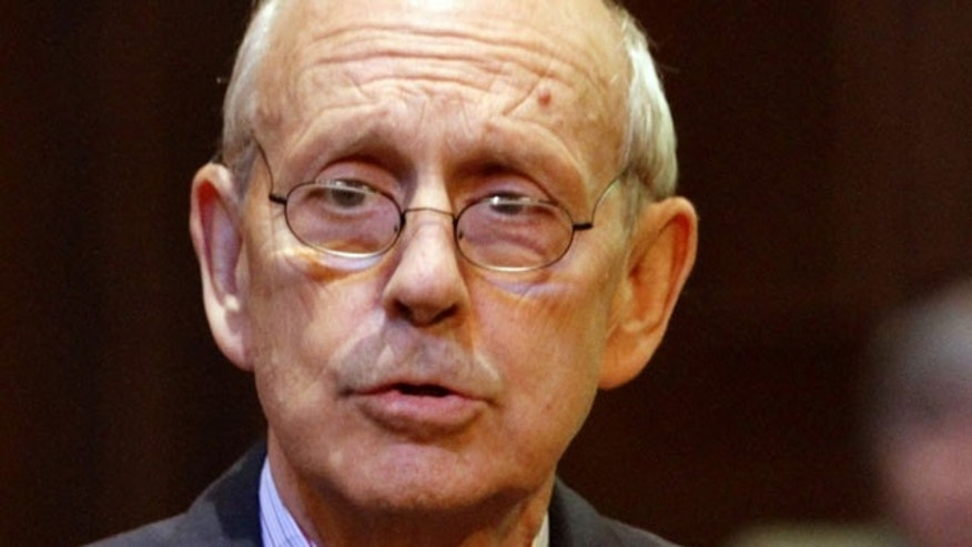 In this Oct. 6, 2011 file photo, Supreme Court Justice Stephen Breyer in Richmond, Va.