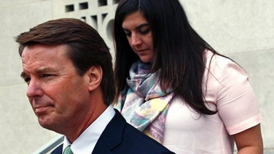 May 24, 2012: John Edwards leaves a federal court in Greensboro, N.C., with daughter Cate Edwards during the fifth day of jury deliberations in his trial.