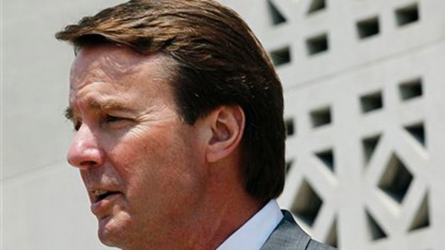 Friday, May 25, 2012: Former U.S. presidential candidate John Edwards leaves a federal court during a break during the sixth day of jury deliberations.