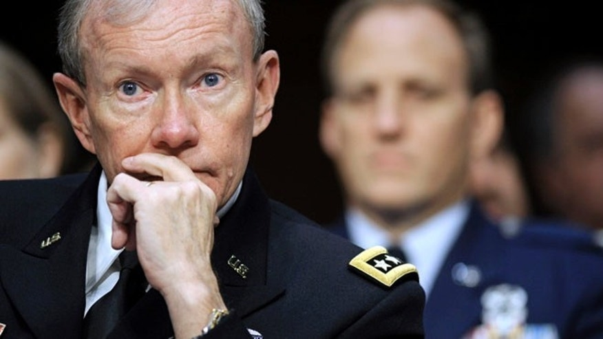 May 23, 2012: Joint Chiefs Chairman Gen. Martin Dempsey testifies on Capitol Hill in Washington.