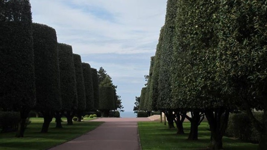 May 17, 2012: Shown here is a path near Omaha Beach.