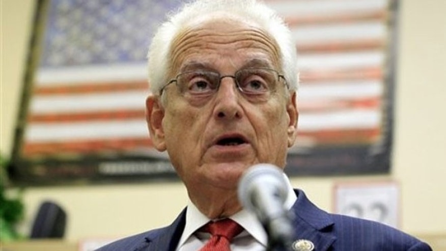 September 27, 2011: U.S. Rep. Bill Pascrell of New Jersey speaks during a news conference at Nutley High School in Nutley, N.J.