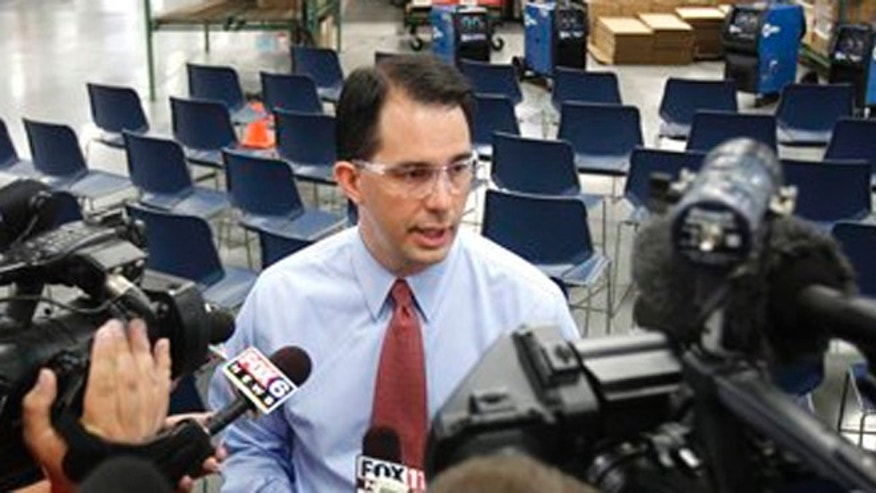 June 1, 2012: GOP Gov. Scott Walker campaigns at Miller Electric Greenville, Wis.