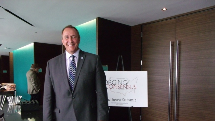 Utah Attorney General Mark Shurtleff at the Southeast immigration summit on June 11, 2012.