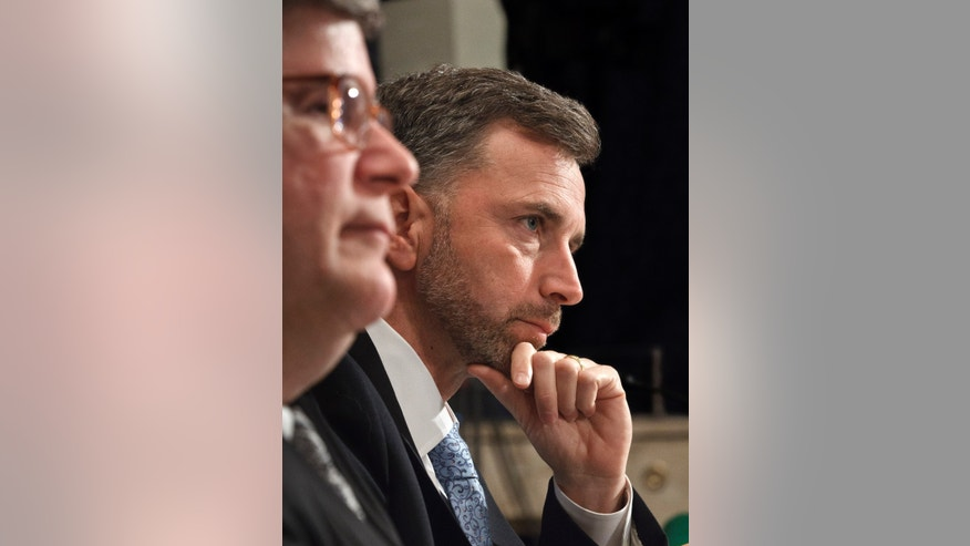April 18: Acting GSA Administrator Dan Tangherlini, right, accompanied by General Services Administration Inspector General Brian Miller, testifies on Capitol Hill