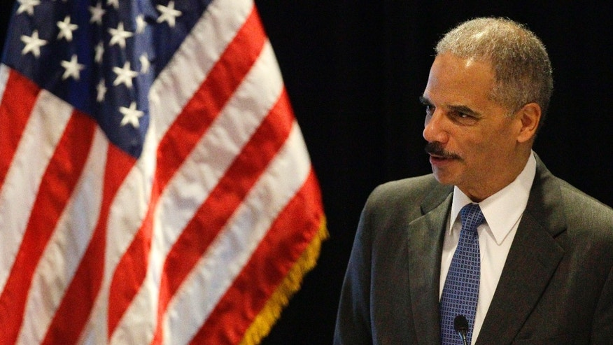 June 26, 2012: Attorney General Eric Holder speaks in Boston. With a vote looming to hold Holder in contempt of Congress, a House committee chairman is challenging President Barack Obamas claim of executive privilege, invoked to maintain secrecy for some documents related to a failed gun-tracking operation.