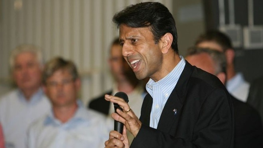 FILE: June 27, 2012: Louisiana Gov. Bobby Jindal speaks in West Monroe, La.