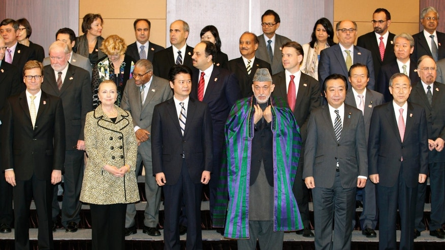 July 8, 2012: World leaders pose after discussing civilian aid to Afghanistan.