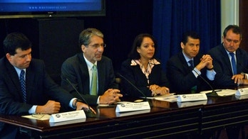 Trade and Small Business Panel with Dan Restrepo, Kevin Whitaker, Alejandra Castillo, Dario Gomez, and Gustavo Arnavat.