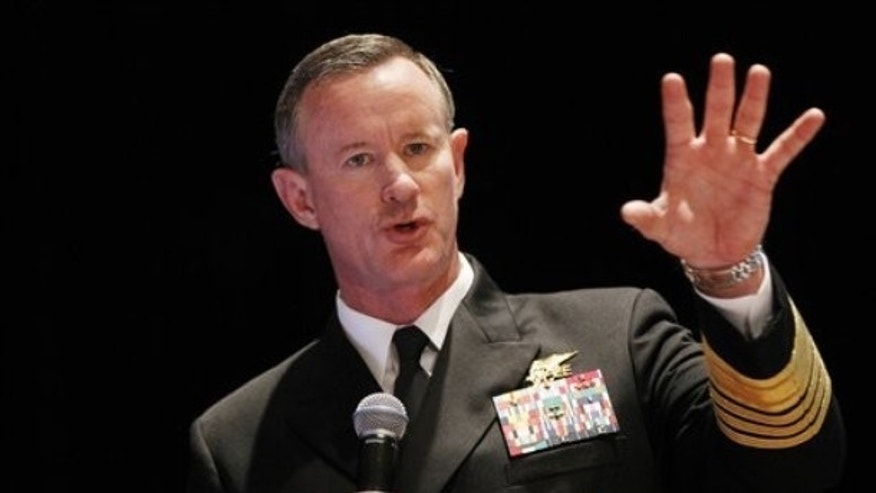 Feb. 7, 2012: Navy Adm. Bill McRaven, commander of the U.S. Special Operations Command, addresses the National Defense Industrial Association (NDIA), in Washington.
