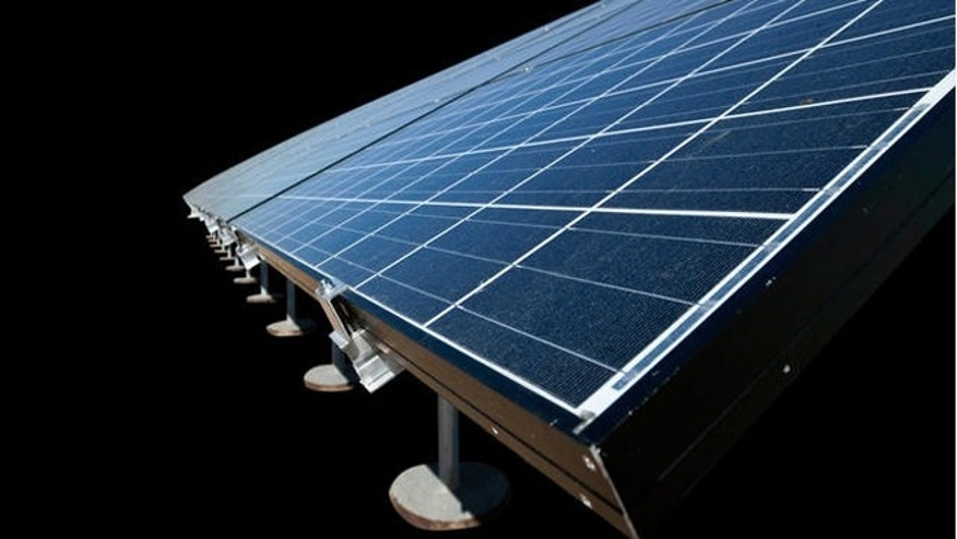 FILE: Feb. 10, 2011: Solar panel array, Little Rock, Ark.