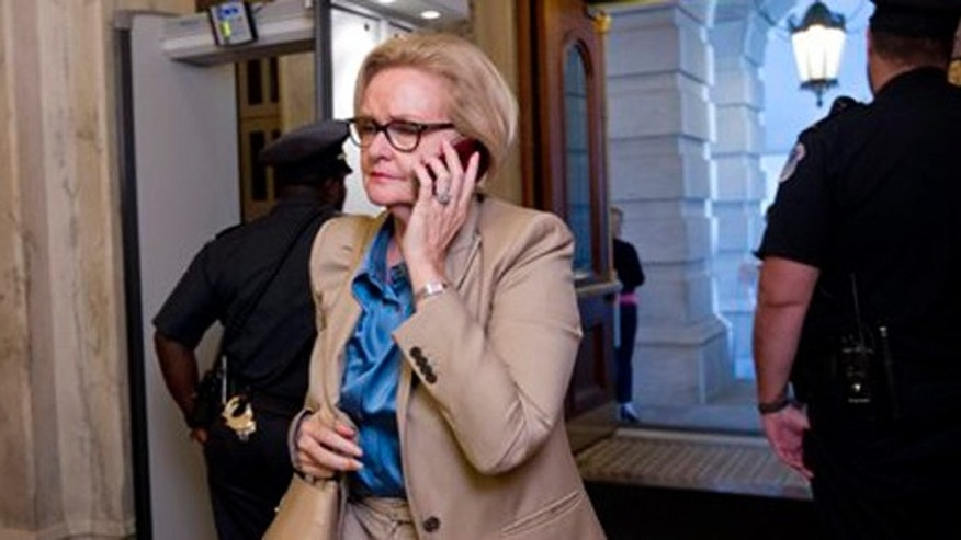 July 25, 2012: Sen. Claire McCaskill, D-Mo., on Capitol Hill, in Washington, D.C., going to a vote to extend tax cuts that will otherwise expire in January.