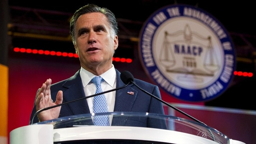 July 11, 2012: Mitt Romney gestures during a speech to the NAACP annual convention in Houston.