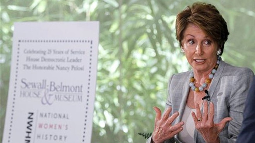 June 6, 2012: House Minority Leader Leader Nancy Pelosi participates in a discussion in Washington.