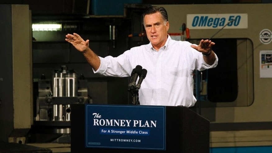 Aug. 7, 2012: Mitt Romney campaigns in Elk Grove Village, Ill.