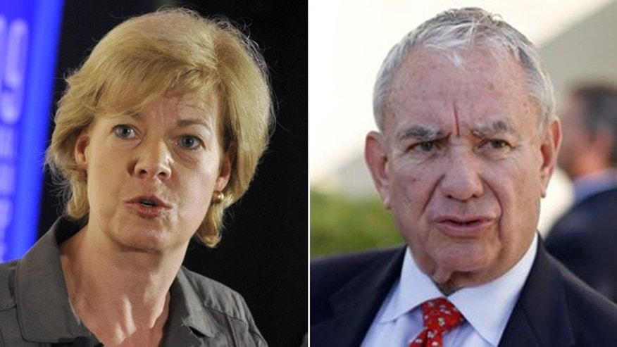 Wis. Democratic Rep. Tammy Baldwin and former GOP Gov. Tommy Thompson are in a toss-up race for the open seat of Democratic Sen. Herb Kohl.