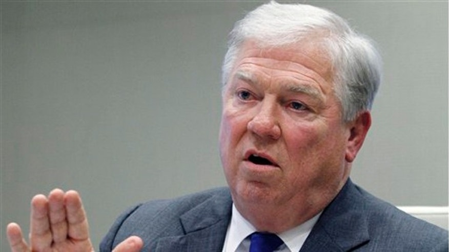 FILE: Jan. 13, 2012: Former Mississippi Gov. Haley Barbour during an interview in Ridgeland, Miss. He was recently asked about the political evolution of the southern states. v