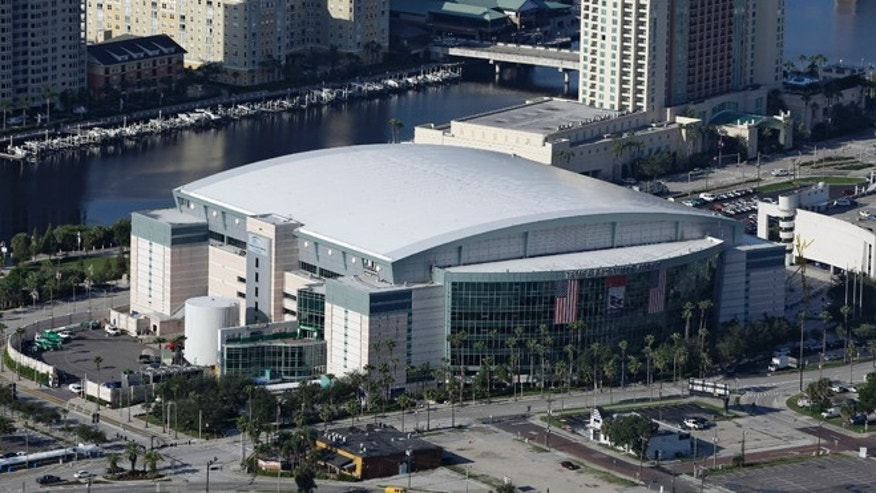 Aug. 16, 2012: The Tampa Bay Times Forum shown in Tampa, Fla., is the site of the 2012 Republican National Convention.