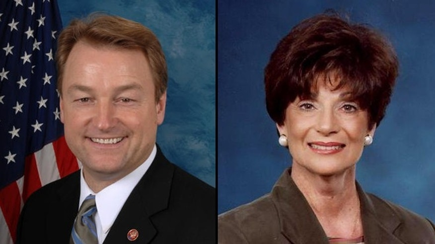"Republican Sen. Dean Heller and Democratic Rep. Shelley Berkley, who are both running for Nevada's Senate, could be the first politicians affected by a ""none of the above"" voting change."