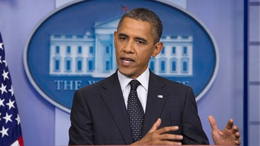 FILE: President Obama speaks in the White House briefing room, in Washington, D.C.