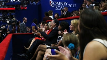 TAMPA, FL - AUGUST 28:  (L-R) Mary Pat Christie, Ann Romney, Republican presidential candidate, former Massachusetts Gov. Mitt Romney and former U.S. Secretary of State Condoleezza Rice applaudas New Jersey Gov. Chris Christie delivers the keynote address during the Republican National Convention at the Tampa Bay Times Forum on August 28, 2012 in Tampa, Florida. Today is the first full session of the RNC after the start was delayed due to Tropical Storm Isaac.  (Photo by Justin Sullivan/Getty Images)