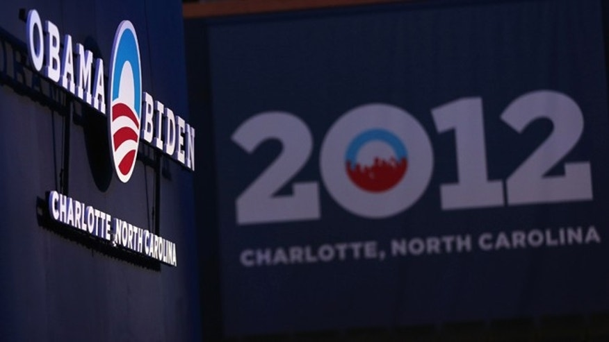 CHARLOTTE, NC - AUGUST 31:  A general view of the inside of the arena during the Democratic National Convention Committee Unveiling Stage for the DNC at Time Warner Cable Arena on August 31, 2012 in Charlotte, North Carolina.  (Photo by Streeter Lecka/Getty Images)