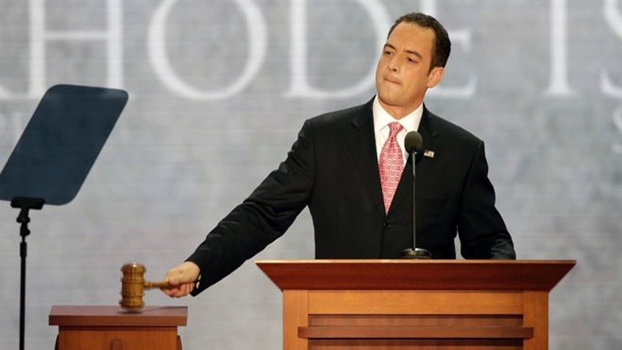 FILE: Aug. 27, 2012: Republican National Committee Chairman Reince Priebus officially starts the party's convention in Tampa, Fla.