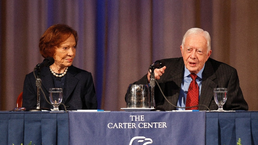 Sept. 11, 2012: Former President Jimmy Carter and his wife Rosalynn discuss some of the accomplishments made by the Carter Center.