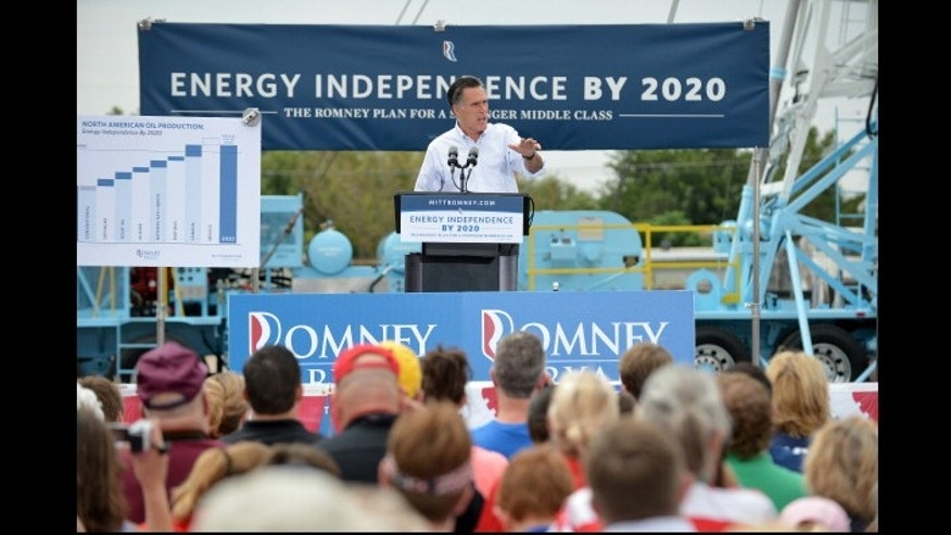 Republican presidential candidate Mitt Romney speaks during campaign event  in Hobbs, New Mexico, in August.