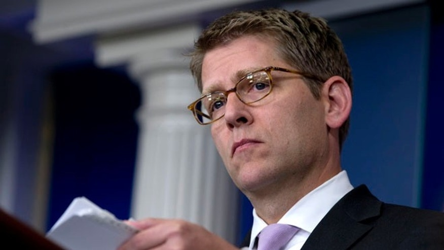 Sept. 24, 2012: White House Press Secretary Jay Carney listens to questions during his daily briefing at the White House.