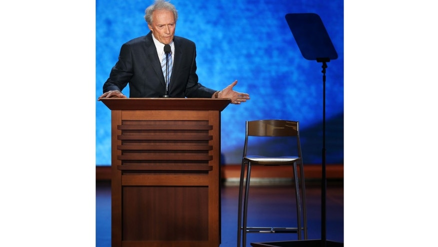 In his speech at the Republican National Convention, actor Clint Eastwood addressed an empty chair that he said represented President Obama.