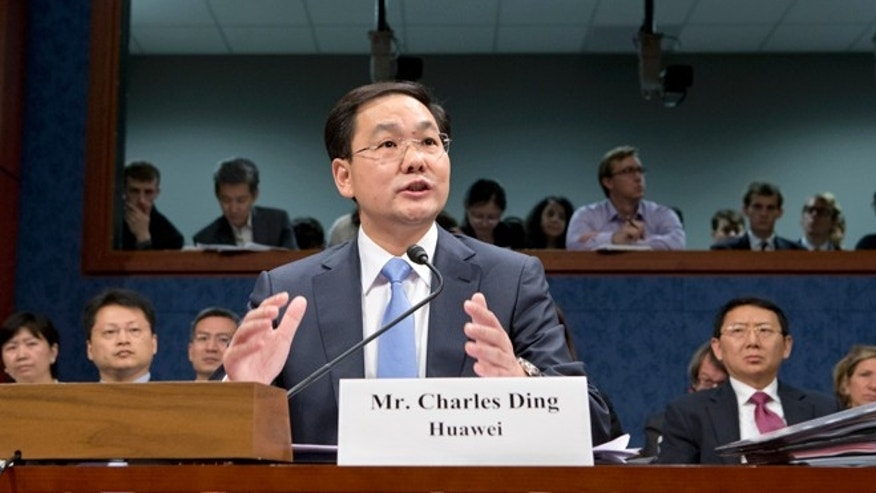 Sept. 13, 2012: Charles Ding, Huawei Technologies Ltd's senior vice president for the U.S., testifies on Capitol Hill in Washington.