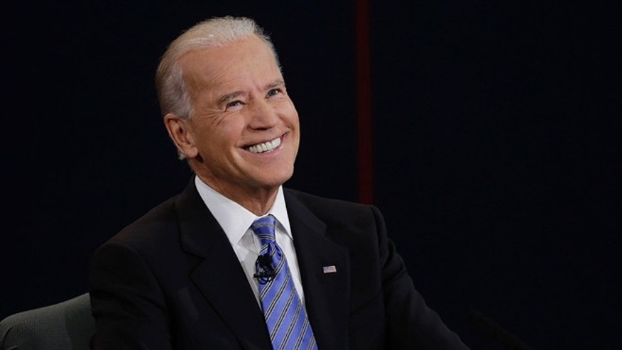 Vice President Joe Biden reacts to a question during the vice presidential debate at Centre College, Thursday, Oct. 11, 2012, in Danville, Ky. (AP Photo/Charlie Neibergall)
