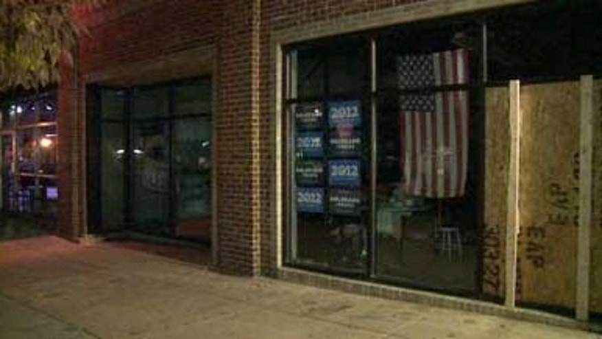Police say someone fired a shot Friday through the window of President Obama's Denver campaign office and that people were inside at the time. No injuries were reported.