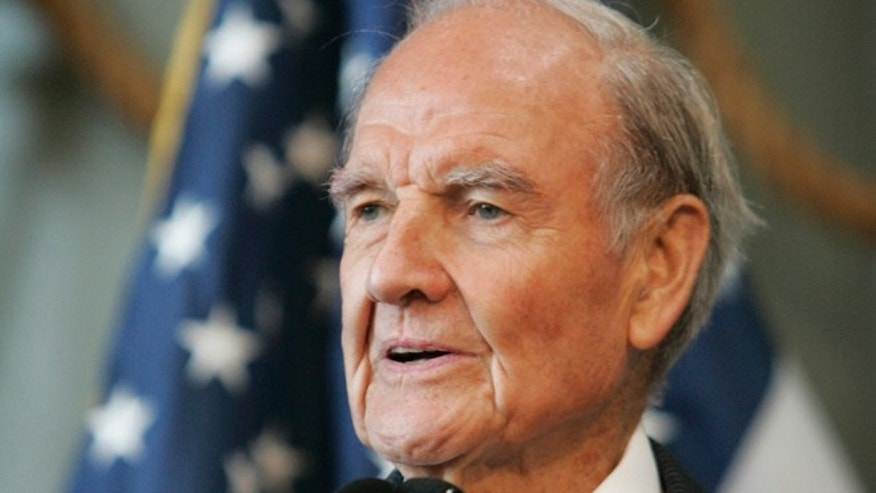 April 18, 2009: In this file photo former Sen. George McGovern delivers remarks at the National World War II Museum in New Orleans.