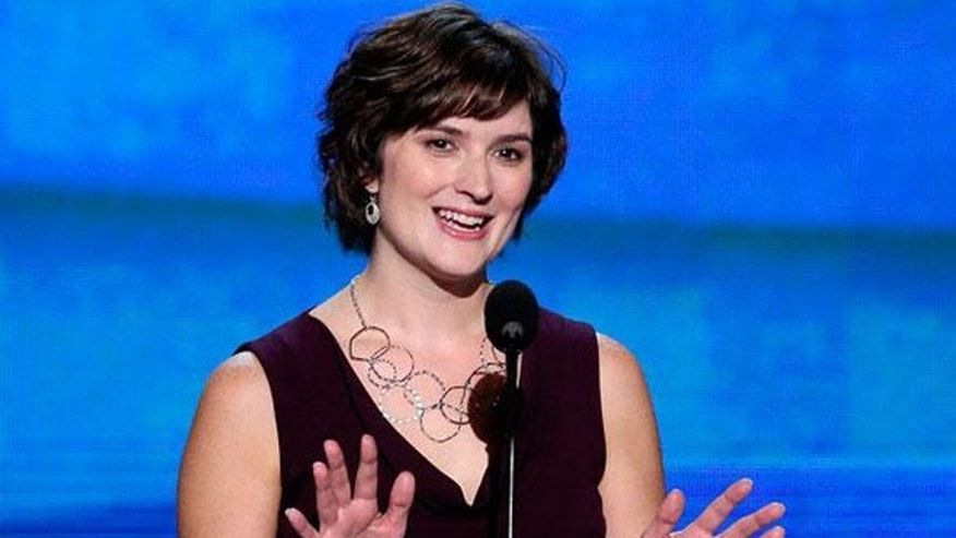 Sept. 5, 2012: Obama surrogate Sandra Fluke speaks at the Democratic National Convention in Charlotte, N.C.