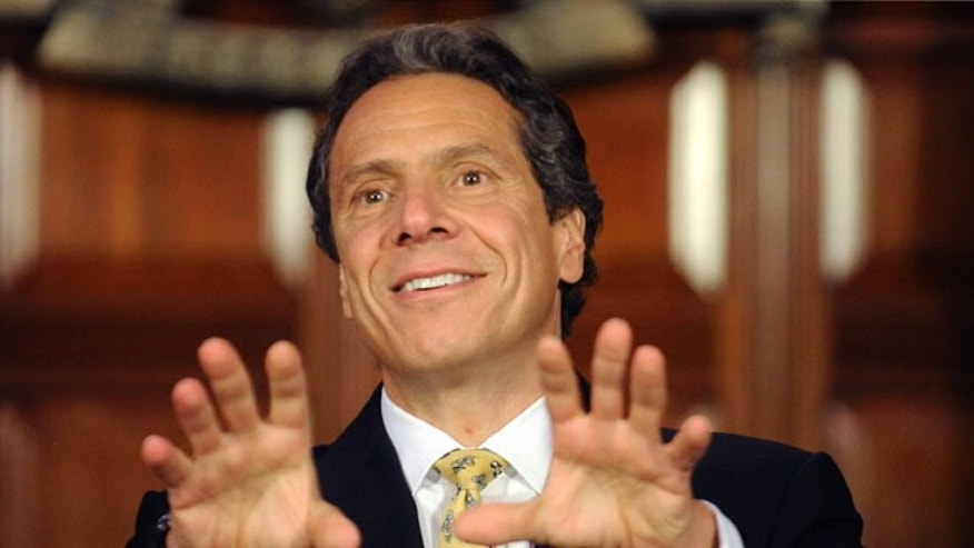 FILE:  June 4, 2012: New York Gov. Andrew Cuomo speaks during a news conference at the Capitol in Albany, N.Y.