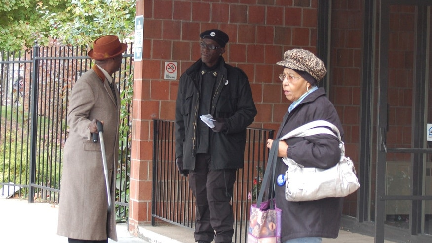 Jerry Jackson was back at the same North Philadelphia polling site where he was accused in 2008 of voter intimidation.