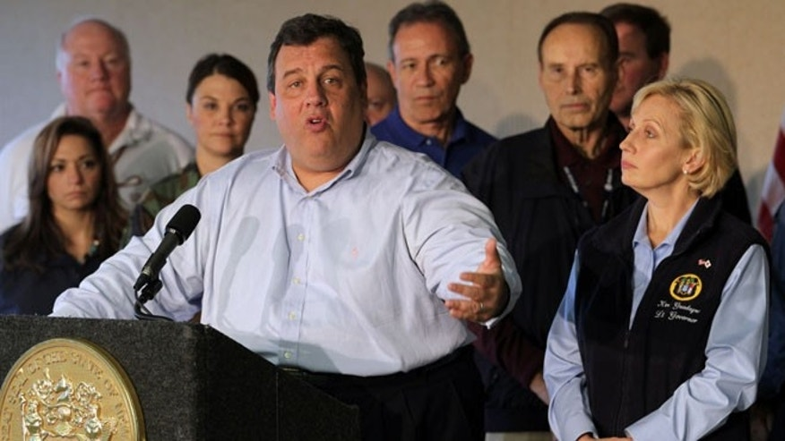 Nov. 12, 2012: New Jersey Gov. Chris Christie speaks at a news conference on Hurricane Sandy recovery efforts.