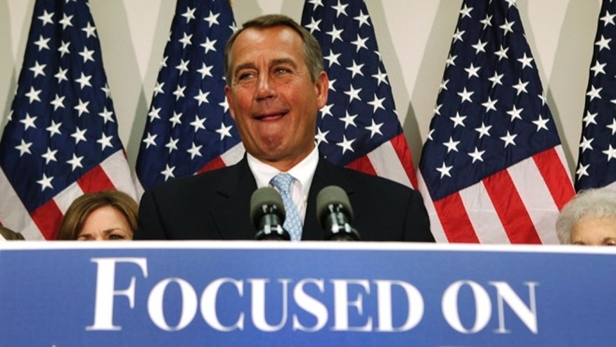 Nov.  28, 2012: House Speaker John Boehner at a news conference on Capitol Hill in Washington.