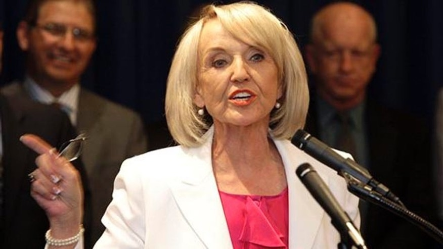 Shown here is Arizona Gov. Jan Brewer. (AP Photo)