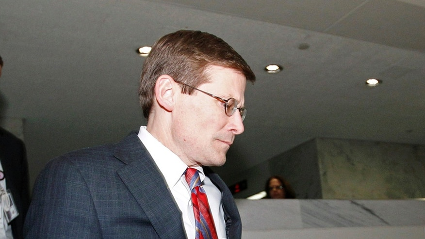 FILE: Nov. 15, 2012: Acting CIA Director Michael Morell leaves a Senate Intelligence Committee meeting on Capitol Hill, in Washington, D.C.